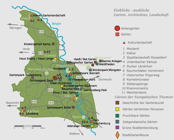 Karte Rheinland
